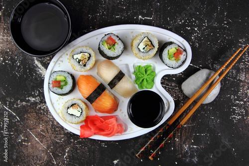 Aluminium Sushi bar суши и роллы с зеленым чаем