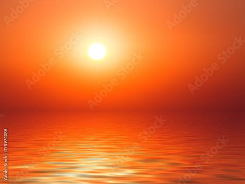 Papiers peints Orange eclat Sunset sea horizon background
