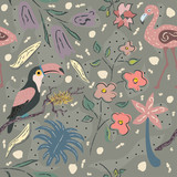 Seamless Floral Pattern. Hand Drawn.