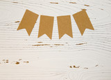 Background with Blank Bunting - 179930287