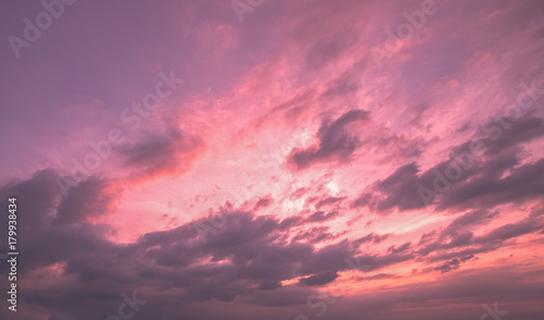 Foto op Canvas Candy roze Sky at sunset background.