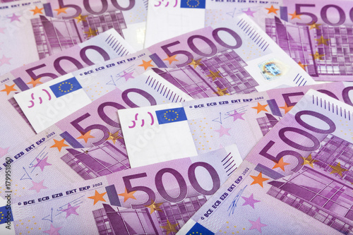 Poster background of 500 Euros bills