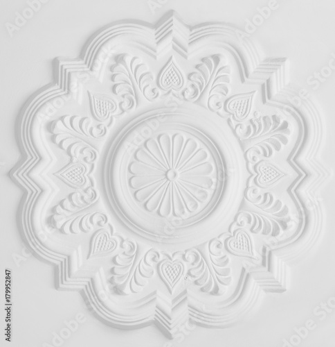 stucco moulding rosette - 179952847
