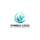 Sea and coral Logo Template. Vector Illustrator Eps. 10 - 179953845