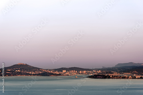 Aluminium Landschappen Rade de Toulon