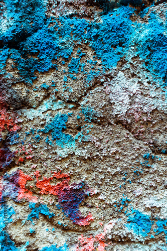 Aluminium Graffiti Detail graffiti on wall texture and background
