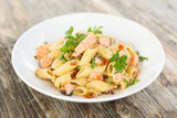 Penne al Salmone, Italian Pasta - 179975420