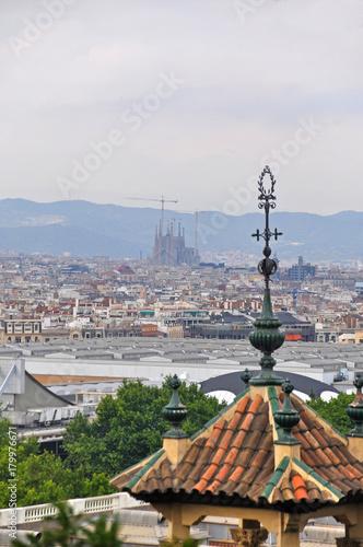 Aluminium Barcelona Panorama of Barcelona from Montjuic