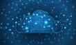Modern cloud technology. Integrated digital web concept