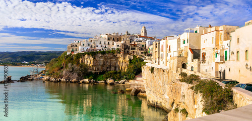 Fotobehang Freesurf Italian holidays in Puglia - picturesque town Vieste