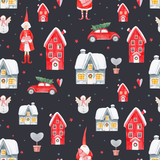 Nice Watercolor Christmas  Pattern Wall Sticker
