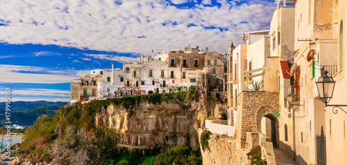 Fotobehang Freesurf Vieste - beautiful coastal town in Puglia. Italian holidays