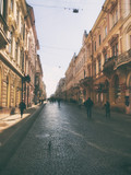 The beeautiful old street in the morning