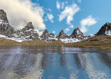 3D Rendering Mountain Lake