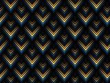 pattern geometric peacock black