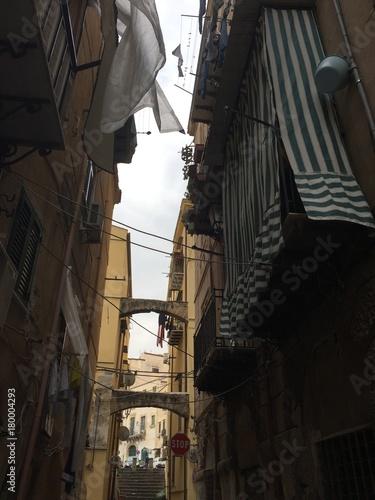 Plexiglas Smalle straatjes Sicilie