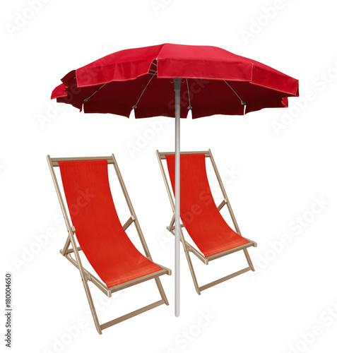 Juliste Beach umbrella and deckchairs