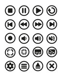 Video player flat icon button pack 01