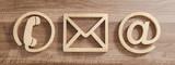Kontakt Symbole aus Holz - 180009442