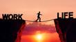 Leinwanddruck Bild - Work life balance