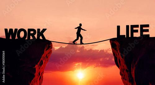 Leinwanddruck Bild Work life balance