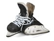 Pair of Old Black Ice Hockey Skates, Isolated on Transparent