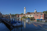 The island of Burano in the Venetian Lagoon - Italy poster