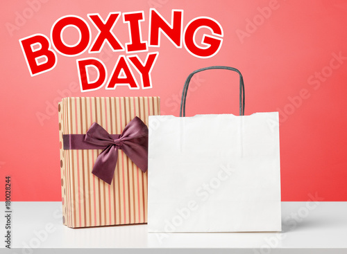 Poster gifts with text boxing day