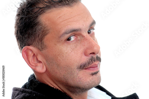 Portrait of an adult man with mustaches Poster