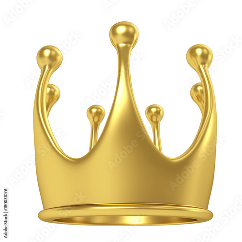 Simple gold crown