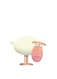 cartoon of sheep staring at the camera