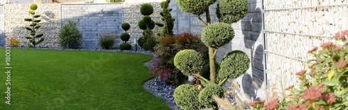 Foto Murales Gepflegte Gartenanlage