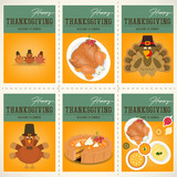 Thanksgiving Day Posters Set - 180034868