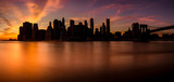 Sunset view of the island of Manhattan from Brooklyn - 180037021