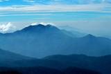 Góra widok przy Doi Intanon parkiem narodowym, Chiangmai, Tajlandia