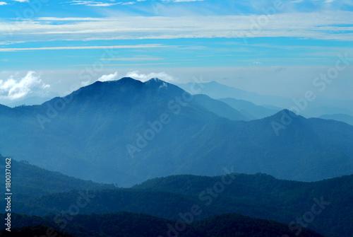 Fotobehang Thailand Mountains view at Doi Intanon national park, Chiangmai, Thailand