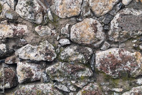 In de dag Stenen Old stone brown wall background texture