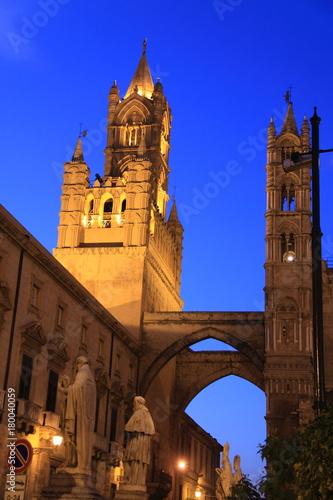Staande foto Palermo Cathédrale, Palerme, Sicile, Italie