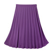 Violet color pleated midi skirt isolated on white