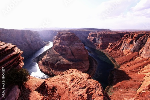 Fotobehang Zwart The horseshoe bend in Arizona