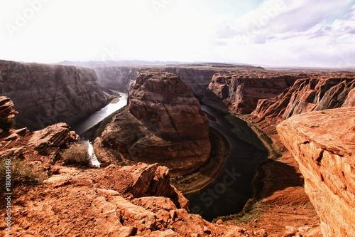 Foto op Plexiglas Chocoladebruin The horseshoe bend in Arizona