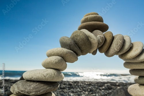 Arch Made of Pebbles Poster