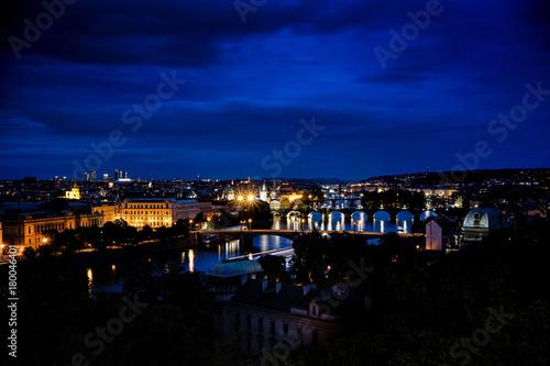 Papiers peints Prague Night Prague bridge, Charles bridge