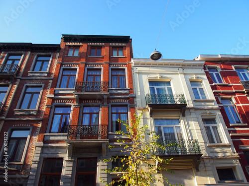 Foto op Canvas Brussel Brüssel: Altbaufassaden
