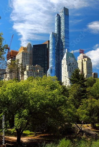 New York skyscrapers seen from Central Park, NY, USA Poster