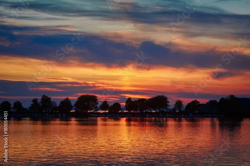 Foto op Plexiglas Natuur Sunset in Lindau