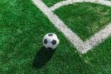 Soccer Ball on the Corner of a Soccer Field
