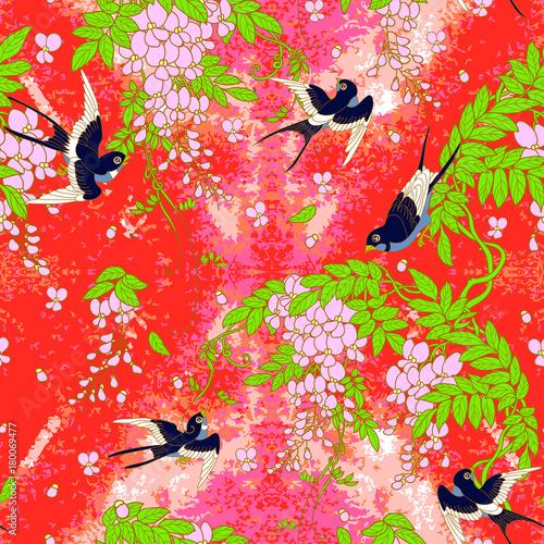 Foto op Canvas Vlinders in Grunge swallow