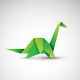 dinozaur origami wektor
