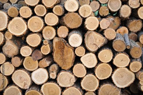 Papiers peints Texture de bois de chauffage Pile of wood